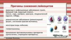 Понижены лейкоциты и тромбоциты