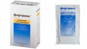 Можно ли применить 1 пакетик Фортранс для очищения кишечника?