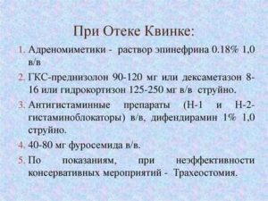 Применение супрастина при отеке Квинке