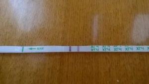 Положительный тест на фоне менструации