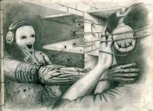 Странные рисунки подростка
