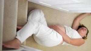 Беременная упала, что делать?