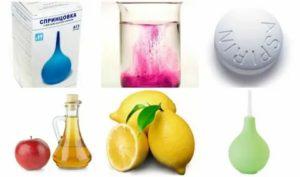 Спринцевание лимонной кислотой