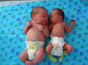 На каком сроке рождается двойня, и какой вес характерен?